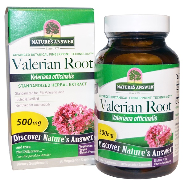Nature's Answer, Valerian Root, 500 mg, 90 Vegetarian Capsules (Discontinued Item)