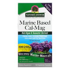 Nature's Answer, 海洋基鈣鎂,120 粒全素膠囊