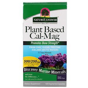 Натурес Ансвер, Plant Based Cal-Mag, 500/250 mg, 120 Vegetarian Capsules отзывы