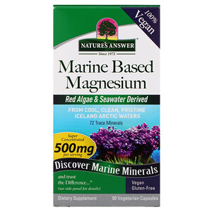 Натурес Ансвер, Marine Based Magnesium, 500 mg, 90 Vegetarian Capsules отзывы покупателей