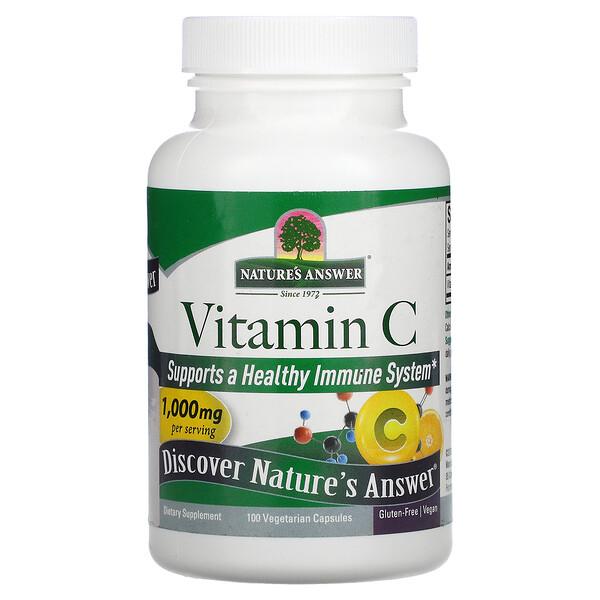 Vitamin C, 1,000 mg, 100 Vegetarian Capsules
