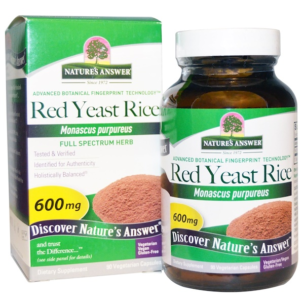 Nature's Answer, Red Yeast Rice, 90 Veggi Caps (Discontinued Item)
