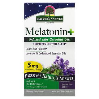 Nature's Answer, Melatonin+, 5 mg, 60 Vegetarian Capsules
