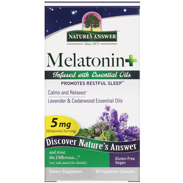 Melatonin +, 5 mg, 60 Vegetarian Capsules