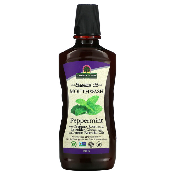 Essential Oil Mouthwash, Peppermint, 16 fl oz