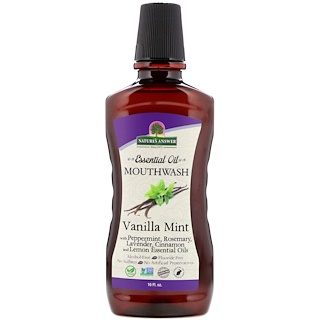 Nature's Answer, Essential Oil Mouthwash, Vanilla Mint, 16 fl oz