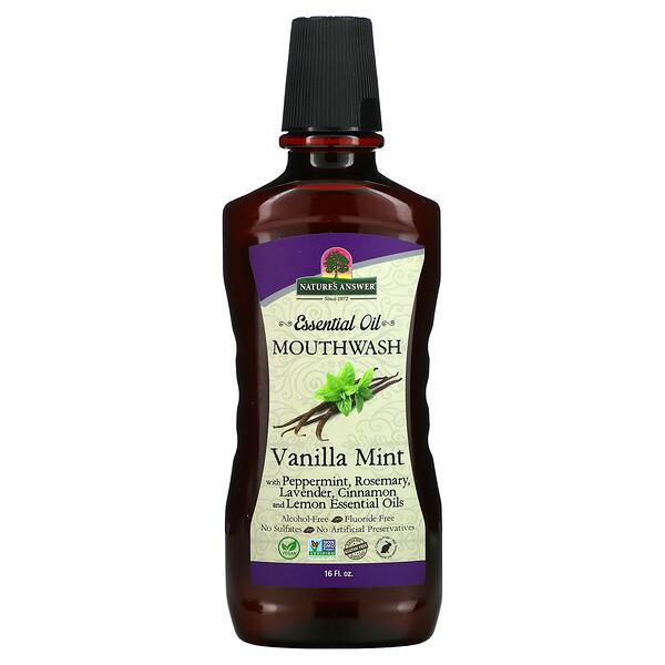 Essential Oil Mouthwash, Vanilla Mint, 16 fl oz