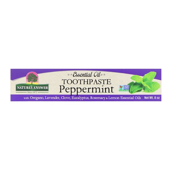 Essential Oil Toothpaste, Peppermint, 8 oz