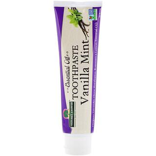Nature's Answer, Pasta de dientes con aceites esenciales, vainilla y menta, 8 oz