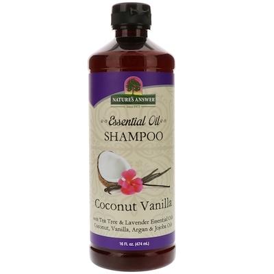 Nature's Answer 精油,洗髮水,椰子香草,16液盎司(474毫升)
