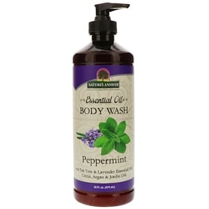 Nature's Answer, Body Wash - Essential Oil, Peppermint, 16 Fl oz (474 ml)