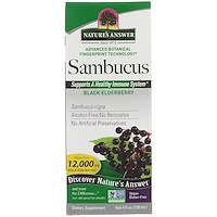 Nature's Answer, 삼부커스, 블랙 엘더베리, 12,000 mg, 4 fl oz (120 ml)