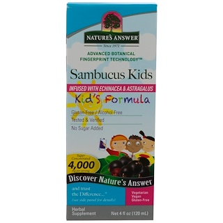 Nature's Answer, Sambucus, Kid's Formula, 4 fl oz (120 ml)
