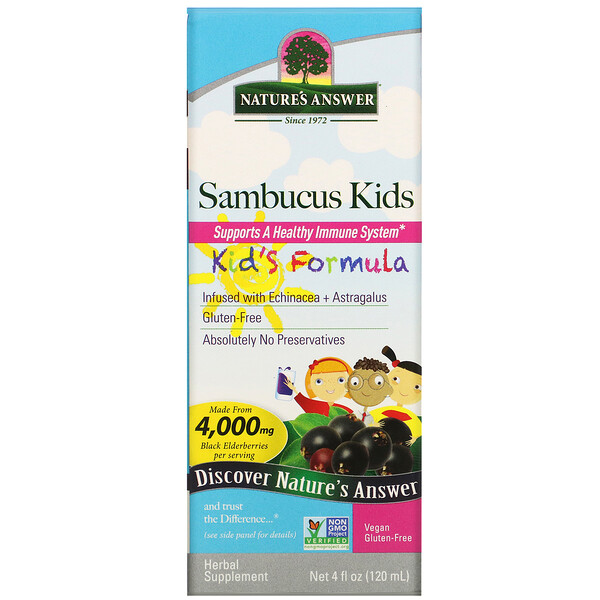 Nature's Answer, Sambucus Kid's Formula, 4,000 mg, 4 fl oz (120 ml)