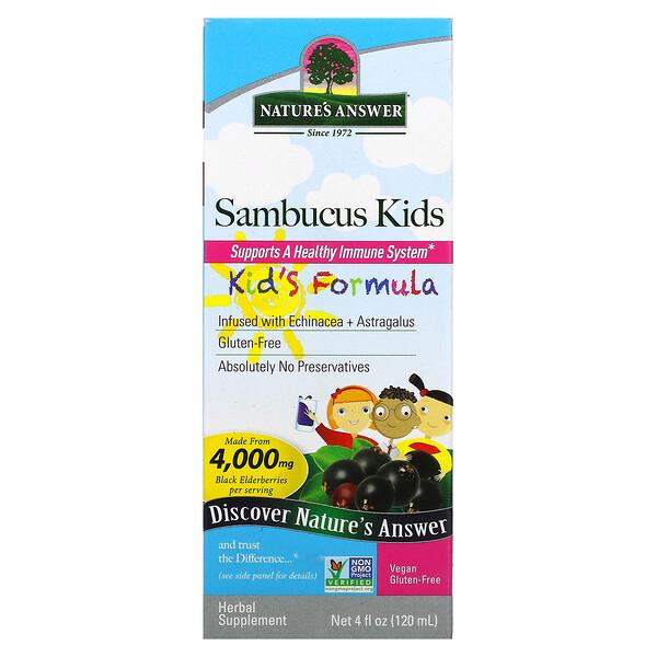 Sambucus Kid's Formula, 4,000 mg, 4 fl oz (120 ml)