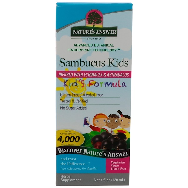 Nature's Answer, Sambucus Kid's Formula, 4000 mg, 4 fl oz (120 ml)