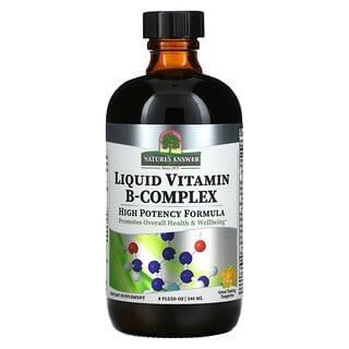 Nature's Answer, Complejo de vitaminaB líquido, Mandarina deliciosa, 240ml (8oz.líq.)