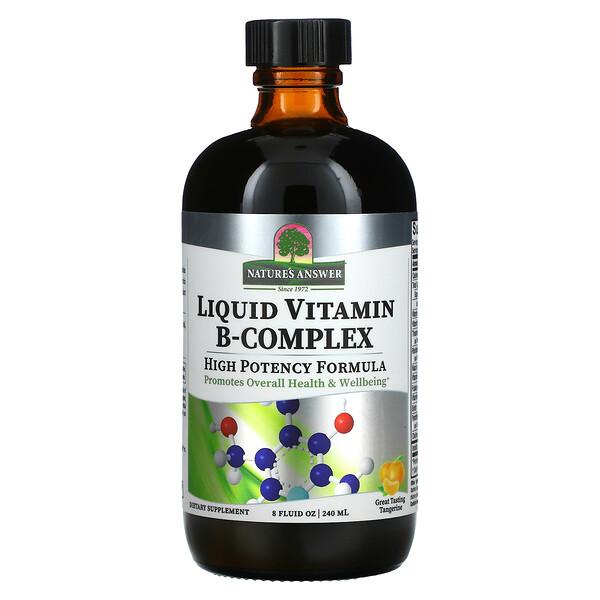 Liquid Vitamin B-Complex, Great Tasting Tangerine , 8 fl oz (240 ml)