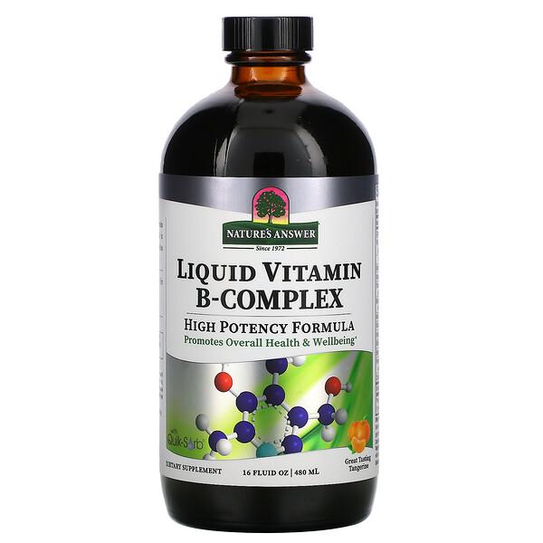 Liquid Vitamin B-Complex, Great Tasting Tangerine, 16 fl oz (480 ml)