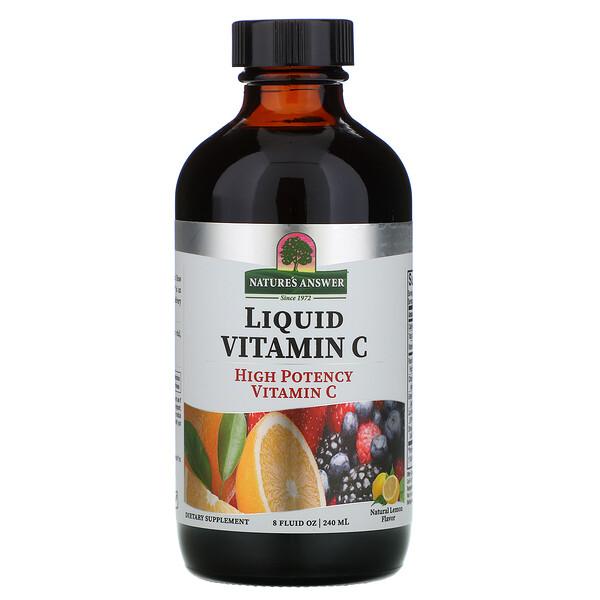 Liquid Vitamin C, Natural Lemon Flavor, 8 fl oz (240 ml)
