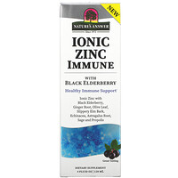 Nature's Answer, Ionic Zinc Immune with Black Elderberry, 4 fl oz (120 ml)