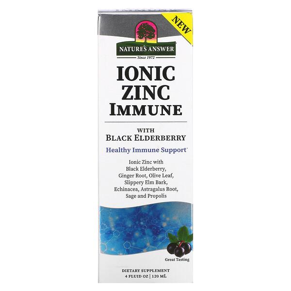 Ionic Zinc Immune with Black Elderberry, 4 fl oz (120 ml)