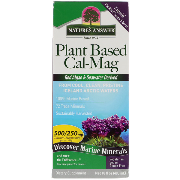 Plant Based Cal-Mag, Vanilla Cream Flavor, 16 fl oz (480 ml)