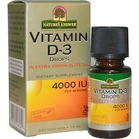 Витамин D-3, капли, 4000 МЕ, 0,5 жидких унций (15 мл) - фото