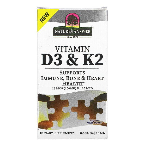 Vitamin D3 & K2, 0.5 fl oz (18 ml)