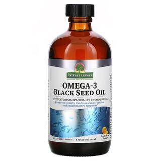 Nature's Answer, Omega-3 with Black Seed Oil, Orange, 8 fl oz (240 ml)