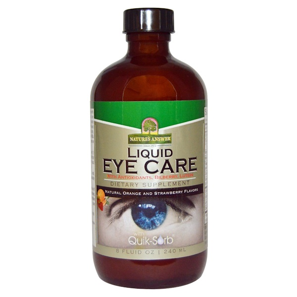 Nature's Answer, Liquid Eye Care, Natural Orange and Strawberry Flavors, 8 fl oz (240 ml) (Discontinued Item)