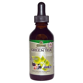 Nature's Answer, Platinum Green Tea, Alta capacidad antioxidante, Sabor a bayas variadas, 2 fl oz (60 ml)