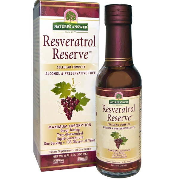 Nature's Answer, Resveratrol Reserve, Complejo Celular, 5 fl oz (150 ml)