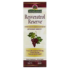 Натурес Ансвер, Resveratrol Reserve, 5 fl oz (150 ml) отзывы