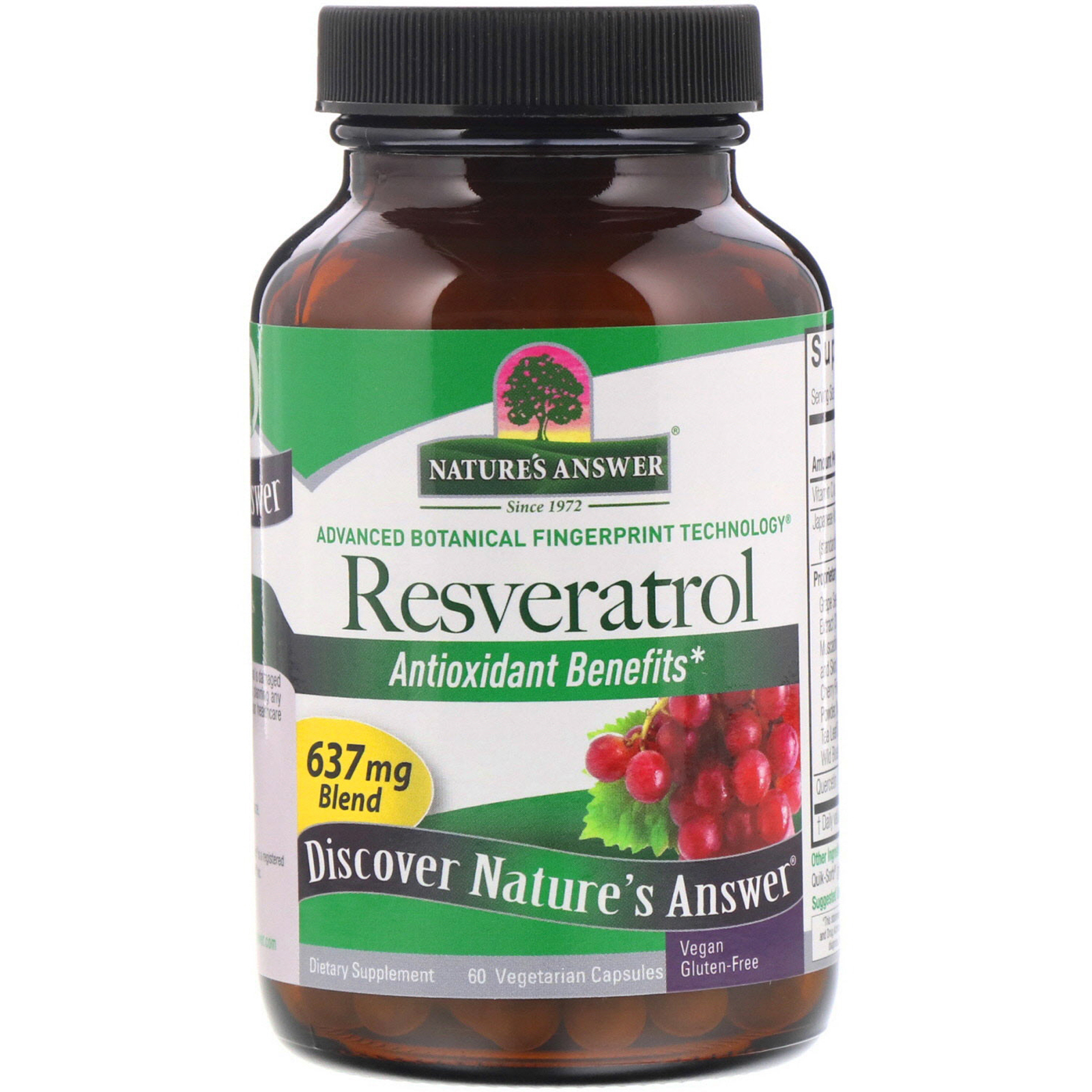 Nature S Answer Resveratrol 637 Mg 60 Vegetarian Capsules Iherb