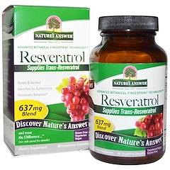 Nature's Answer, Resveratrol, 637 mg, 60 Cápsulas Vegetais