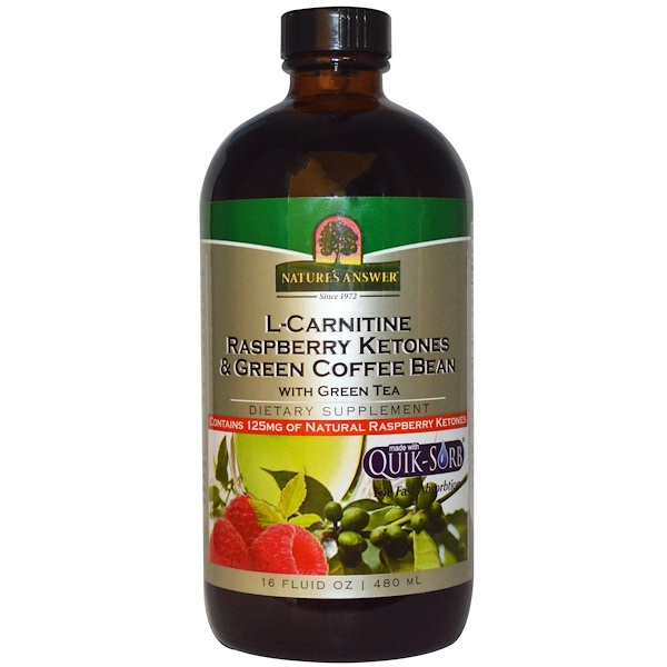 Nature's Answer, L-Carnitine Raspberry Ketones & Green Coffee Bean, 16 fl oz (480 ml) (Discontinued Item)