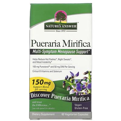 Купить Nature's Answer Pueraria Mirifica, 100 mg, 60 Vegetarian Capsules