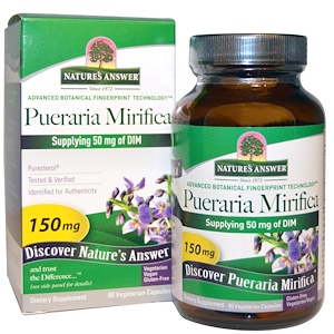 Nature's Answer, Pueraria Mirifica, 150 мг, 60 вегетарианских капсул