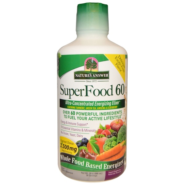 Nature's Answer, SuperFood 60, Naturally Flavored, 30 oz (900 ml) (Discontinued Item)