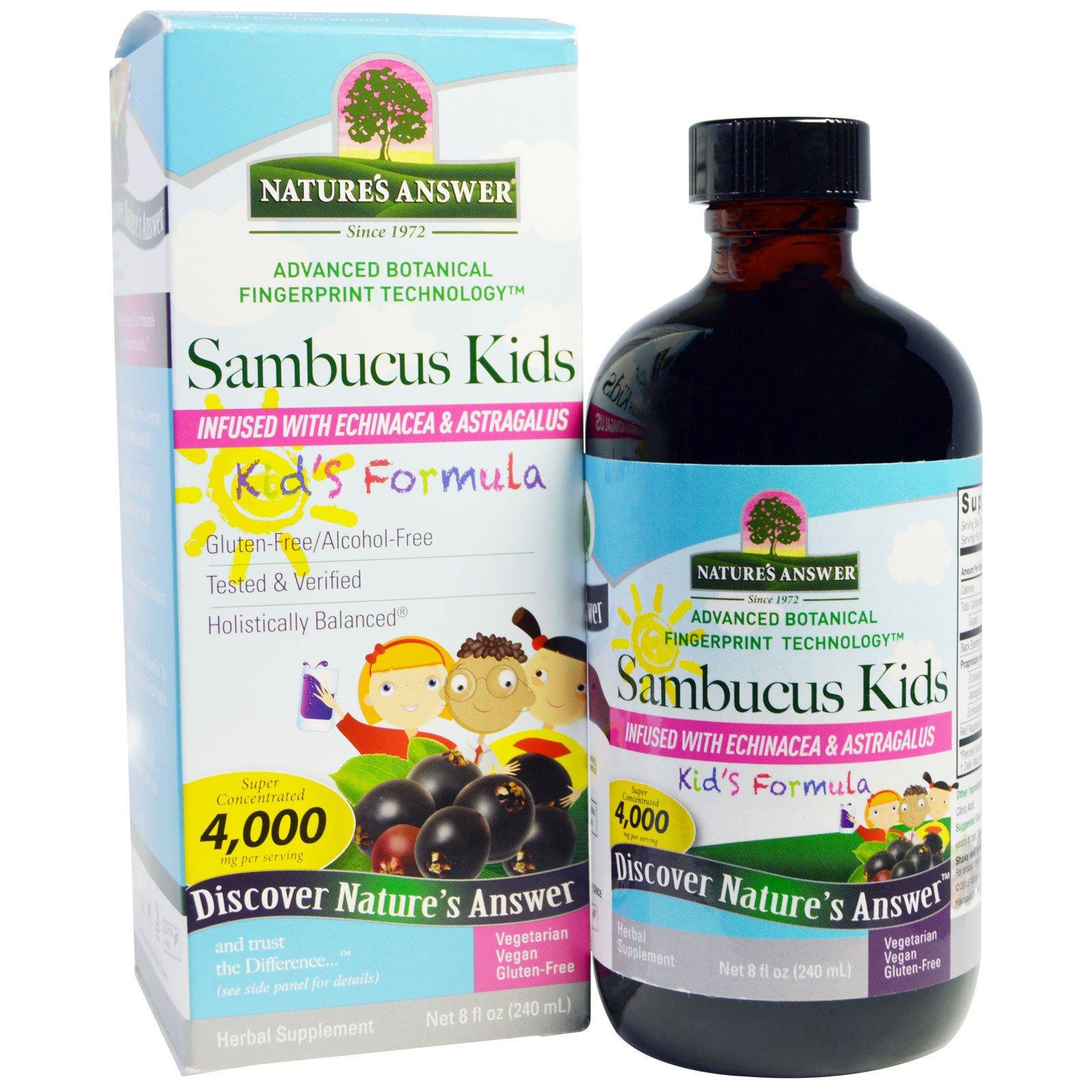 Nature's Answer, Формула с бузиной для детей, 4000 мг, 8 жидк. унц. (240 мл)