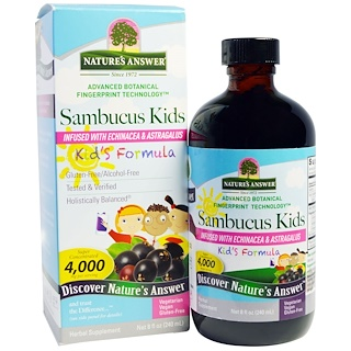Nature's Answer, Sambucus Kid's Formula, 4,000 mg, 8 fl oz (240 ml))