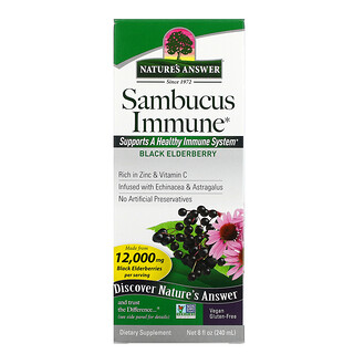 Nature's Answer, Sambucus Immune, Black Elderberry, 12,000 mg, 8 fl oz (240 ml)