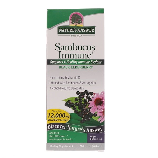 Nature's Answer, Sauco Inmune, 12.000 mg, 8 oz (240 ml)