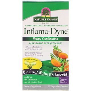 Nature's Answer, Inflama-Dyne, Herbal Combination, 90 Vegetarian Capsules