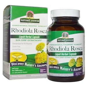 Натурес Ансвер, Rhodiola Rosea, 90 Veggie Caps отзывы