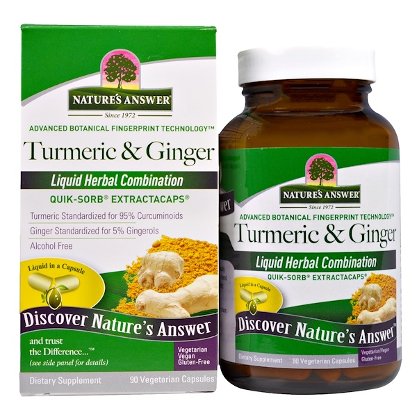 Nature's Answer, Turmeric & Ginger, 90 cápsulas vegetarianas