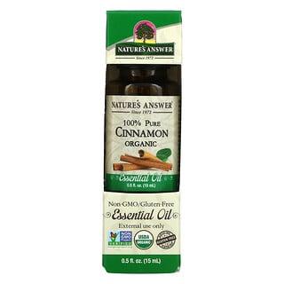 Nature's Answer, Organic Essential Oil, 100% Pure, Cinnamon, 0.5 fl oz (15 ml)