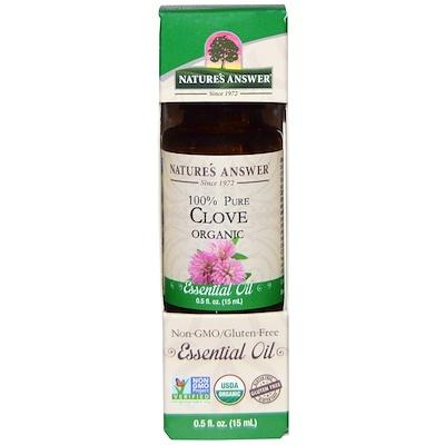 Органические эфирные масла, масло гвоздики, 0,5 жидких унций (15 мл)