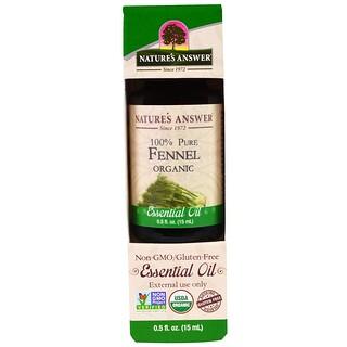 Nature's Answer, Organic Essential Oil, 100% Pure Fennel, 0.5 fl oz (15 ml)